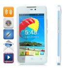 "H-mobile F2 Android 4.2 Dual-core GSM Bar Phone w/ 4.0"" Screen, Wi-Fi and Quad-band - White + Blue"
