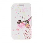 "Kinston KST91702 Girl + Butterflies Pattern Leather Case w/ Stand for IPHONE 6 4.7"" - Multicolored"