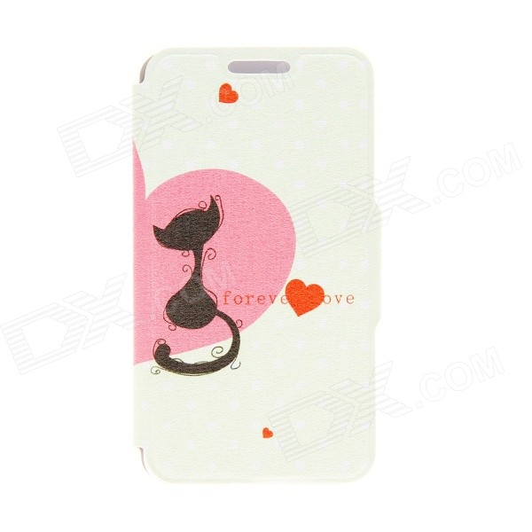 "Kinston KST91706 Cat Pattern Caso de couro w / stand para IPHONE 6 4.7 ""- Multicolored"