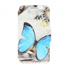 "Kinston KST91713 Butterfly Pattern Leather Case w/ Stand for 4.7"" IPHONE 6 - Multicolored + Blue"