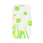 "Kinston Green Vine Pattern PU Leather + Plastic Flip Open Case for 4.7"" IPHONE 6 - Yellowish Green"