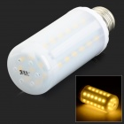 JRLED E27 6W 500lm 3300K 44-SMD 5730 LED Warm White Corn Lamp - White + Silver (AC 220~240V)