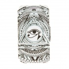 "Kinston the Eye of Sun God Pattern PU Leather + Plastic Flip Open Case for IPHONE 6 4.7"" - White"