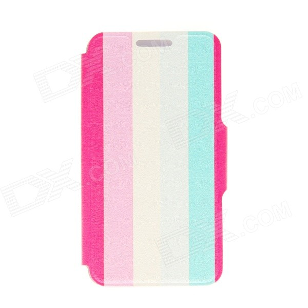 Kinston Five Colors Ribbon Pattern PU Leather Full Body Case with Stand for IPHONE 6 4.7 kinston knitting color pattern pu leather full body cover case w stand for iphone 6 4 7