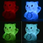 Creative Stijlvolle Lucky Cat Shaped 5W 50lm LED RGB Light Mini Night Lamp - Wit (3 x AG13)