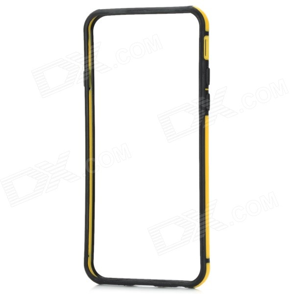 Ultra-thin Protective ABS Bumper Frame Case for IPHONE 6 4.7 - Light Yellow + Black protective tpu bumper frame case for iphone 6 4 7 yellow black