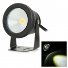 JRLED JRLED-10W-W Waterproof 10W 600lm 6500K LED White Light Spotlight - Black (AC 85~265V)
