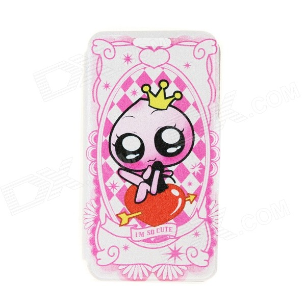 Kinston KST91741 Little Princess Pattern PU Leather Full Body Case w/ Stand for 4.7 IPHONE 6 - Pink