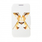 Kinston X Tiger Eyes Pattern PU Leather Full Body Case with Stand for IPHONE 6 4.7 inch