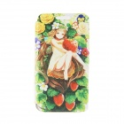 "Kinston KST91744 Strawberry Girl Pattern PU Leather Full Body Case for 4.7"" IPHONE 6 - Black"