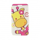 "Kinston KST91747 Giraffe w/ Flower Pattern Leather Case w/ Stand for 4.7"" IPHONE 6 - Multicolored"