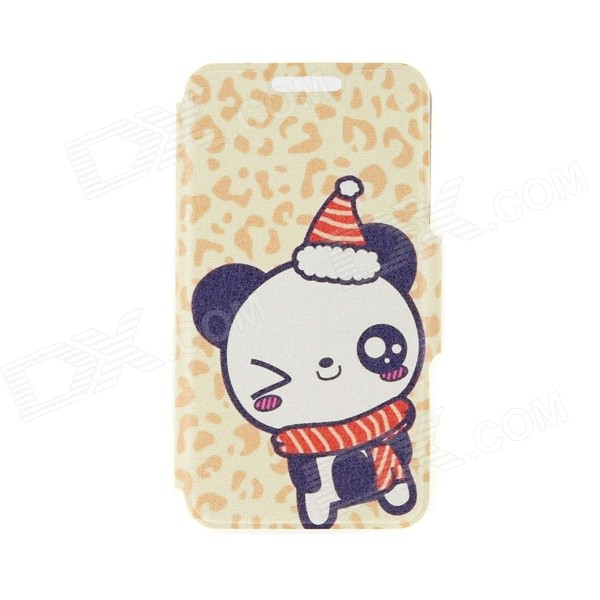 Kinston KST91748 Winter Panda Pattern Leather Case w/ Stand for 4.7 IPHONE 6 - Multicolored kinston flowers