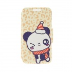 "Kinston KST91748 Winter Panda Pattern Leather Case w/ Stand for 4.7"" IPHONE 6 - Multicolored"