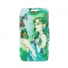 "Kinston KST91753 Butterfly & Goddess Patterned PU Leather Full Body Case for 4.7"" IPHONE 6 - Green"