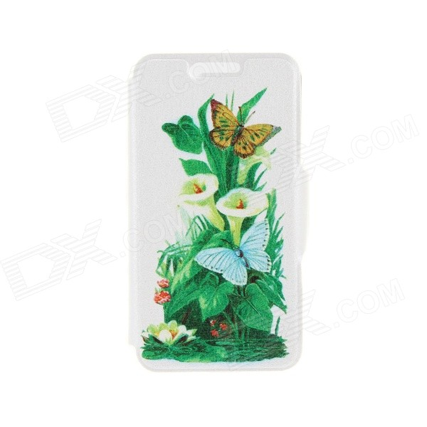 Kinston Butterfly Stronghold Pattern PU Leather Full Body Case w/ Stand for IPHONE 6 4.7