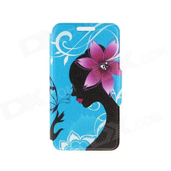 Kinston Paper-cut Butterfly Pattern PU Leather Full Body Case w/ Stand for IPHONE 6 4.7 kinston kst91872 ladybug petunia w rhinestones pattern pu case w stand for iphone 6 multicolored