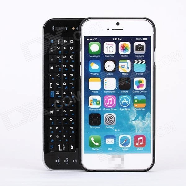 Wireless Bluetooth Keyboard w/ Slide-out Back Case for 4.7