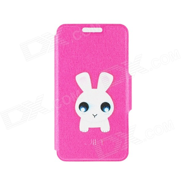 Kinston Cute Bunny Pattern PU Leather Full Body Case with Stand for  IPHONE 6 4.7