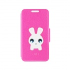 Kinston Cute Bunny Pattern PU Leather Full Body Case with Stand for  IPHONE 6 4.7""