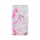 "Kinston Gift Girl Pattern PU Leather Full Body Case with Stand for IPHONE 6 4.7"" - Blue + Pink"