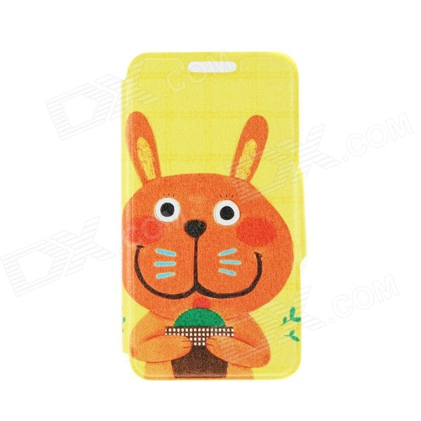 Kinston Take Cactus Cat Pattern PU Leather Full Body Case with Stand for IPHONE 6 4.7 - Orange