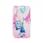 "Kinston Teenage Terror Pattern PU Leather Full Body Case with Stand for IPHONE 6 4.7"" - Blue + Pink"
