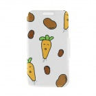 Kinston Carrots & Potatoes Pattern PU Leather Full Body Case with Stand for IPHONE 6 4.7""