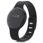 "SW102 0.68"" Screen Bluetooth V4.0 Smart Watch Wristband Bracelet w/ Sports/Sleep Tracking - Black"