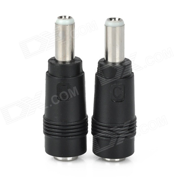 5.5 x 2.1mm Female to 5.5 x 2.5mm Male Adapter (2 PCS) adapter sma plug male to 2 sma jack female t type rf connector triple 1m2f brass gold plating vc657 p0 5