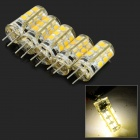 JRLED G4 2W 150lm 3300K 24-SMD 2835 LED Warm White Crystal Lamps - Transparent (DC 12V / 5 PCS)