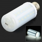 JRLED E27 6W 500lm 6500K 44-SMD 5730 LED White Light Corn Lamp - White + Silver (AC 220~240V)