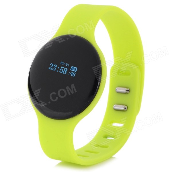 SW102 0.68 Screen Bluetooth V4.0 Smart Watch Wristband Bracelet w/ Sports/Sleep Tracking - Green чайник со свистком 2 4 л rondell premiere rds 237