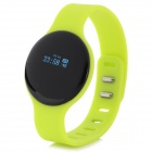 "SW102 0.68"" Screen Bluetooth V4.0 Smart Watch Wristband Bracelet w/ Sports/Sleep Tracking - Green"