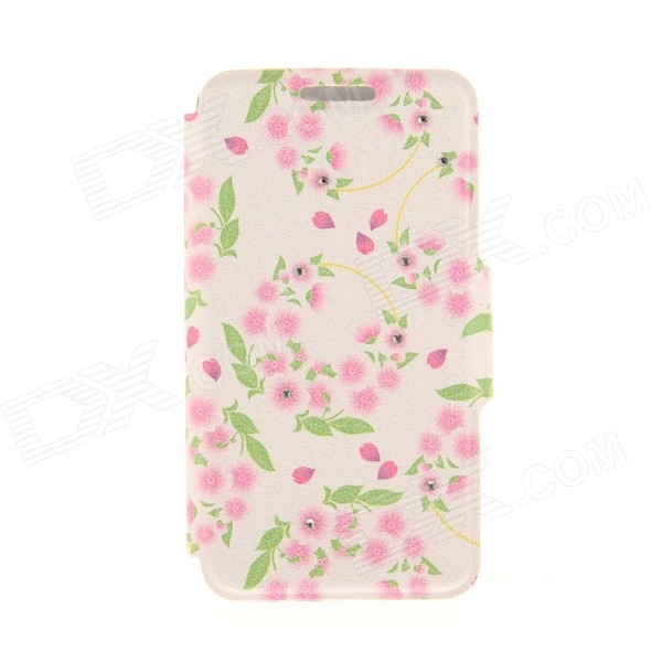 Kinston Pink Garlands Pattern PU Leather Case for IPHONE 6 4.7 - Pink + Green kinston flowers