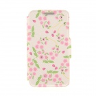 "Kinston Pink Garlands Pattern PU Leather Case for IPHONE 6 4.7"" - Pink + Green"