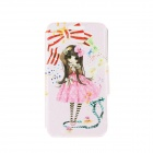 """Kinston Lovely Girl Patterned Protective PU Fall w / Stand +-Karten-Slot für 4.7 """"iPhone 6 - Pink"""