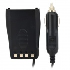 Car Charger w/ Spring Cable for WanHua H26 / H27 - Black (12~24V)