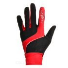 SAHOO 42890 Unisex Cycling Riding Warm Full Fingers Touch Screen Gloves - Black + Red (L / Pair)
