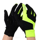 SAHOO 42890 Unisex Cycling Riding Warm Full Fingers Touch Screen Gloves - Black + Green (XL / Pair)
