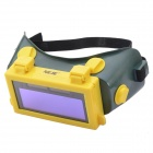 NEJE ZJ0011-2 ABS + Rubber Solar Auto Darkening LCD Welding Helmet - Green + Yellow