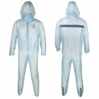 ARSUXEO N010 Outdoor Cycling Hooded Rain Coat Pants Rainwear - Light Blue (XXL)