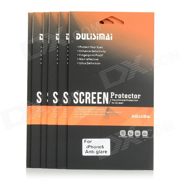 "DULISIMAI Protective PET Matte Screen Guards Protectors for 4.7"" IPHONE 6 - Transparent (6 PCS)"