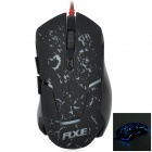 RXE X6 USB Wired 800/1600/2400dpi Gaming Mouse w/ LED Light - Black