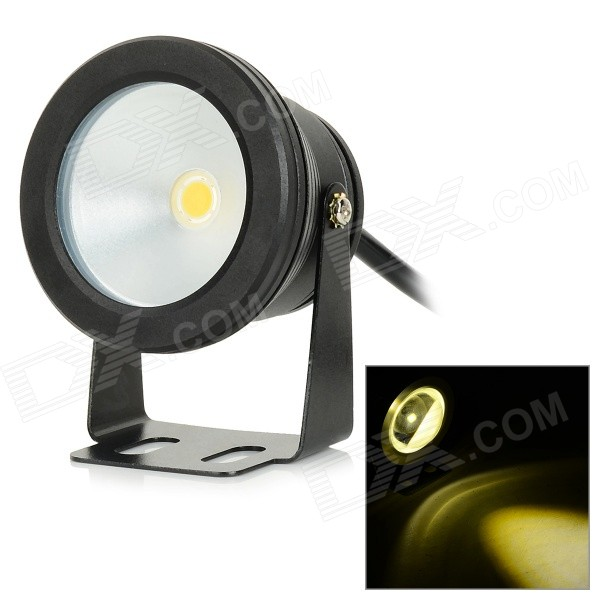 JRLED JRLED-10W-WW Waterproof 10W 600lm 3200K LED Warm White Spotlight - Silver + Black (AC 85~265V)