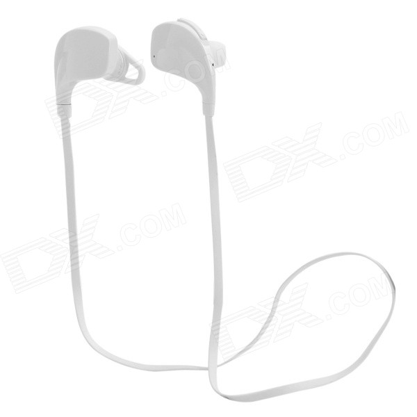 Cannice Muses1 Sports Wireless Bluetooth V4.0 Neckband In-Ear Earphone w/ Microphone - White cannice iblue6 hd wireless music bluetooth v4 0 headset earphone w audio white