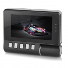"E1000 Multifunkční 2,5 ""TFT CMOS 180"" širokoúhlý Night Vision HD Rotary Car DVR Camcorder - Black"