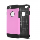 IPY-i601 2 In 1 Design TPU + Plastic Case for 4.7'' IPHONE 6 - Black + Light Pink