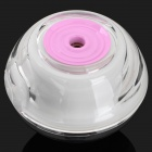 USB Powered Ultrasonic Air Humidifier Freshener w/ LED Light - Pink + Transparent