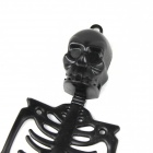 Halloween Rubber Skeleton Frame Hanging Decoration Ornament - Black (2 PCS)