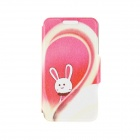 Kinston Love & Rabbit Pattern PU Leather + Plastic Flip Open Case w/ Stand for IPHONE 6 4.7""